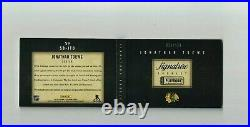 13-14 Jonathan Toews Blackhawks Signature Playbook Booklet Auto Jersey 023/100