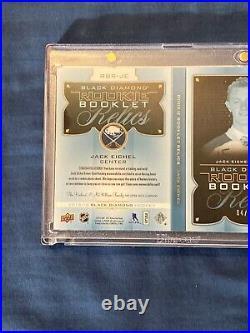 15-16 Black Diamond Rookie Booklet JACK EICHEL Dual Patch SABRES RC /25
