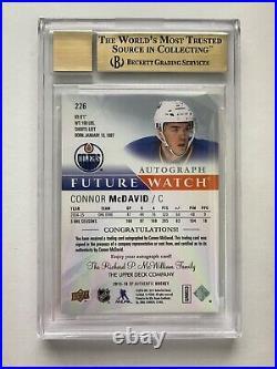 15/16 Connor McDavid SP Authentic Future Watch Auto FWA /999 BGS 9.5 Gem Mint