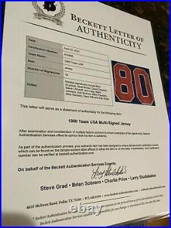 1980 Miracle on Ice Autographed Team USA Olympic Custom Blue Hockey Jersey -BAS