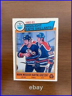 1983-84 O-Pee-Chee Wayne Gretzky Mark Messier #23 VERY RARE