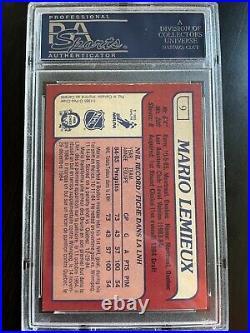 1985-86 O-Pee-Chee OPC Mario Lemieux Rookie Card RC PSA 8 Pittsburgh Penguins #9