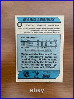 1986-87 Topps Mario Lemieux #122 VERY RARE