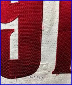 1990s NIKE TEAM SPORTS FEDOROV DETROIT RED WINGS ALT FONT SAMPLE JERSEY SIZE 54
