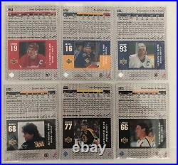 1996-97 Upper Deck Game Jersey complete set 13 cards. Most of them 2 color