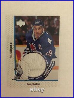 1997-98 Joe Sakic Upper Deck Game Jersey #GJ7 (First Sakic Jersey)