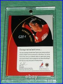 1998-99 BAP GORDIE HOWE All-Star Legend Jersey Patch AUTO 1st AUTO JERSEY Card