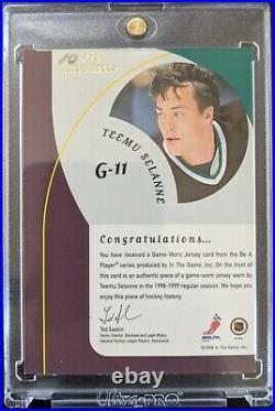 1998-99 BAP Teemu Selanne Jersey Auto /10 RARE