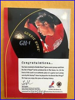 1998-99 Be A Player All Star Gordie Howe Legend Autograph Jersey Short Print