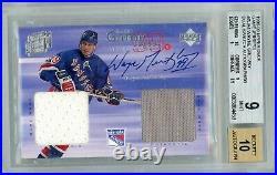 1998-99 Upper Deck Wayne Gretzky Dual Jersey Auto Bgs 9 Mint