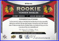 19-20 Ud Ultimate Dual Rookie Shield Tandems Kirby Dach Adam Boqvist 2/2