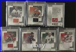 2000 01 SP Game Used Tools Of The Game Lot Auto Jersey Yzerman Bourque Bure Hull