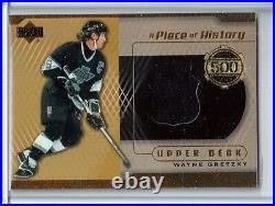 2000-01 Upper Deck 500 Goal Club #500WG Wayne Gretzky JERSEY Los Angeles KINGS