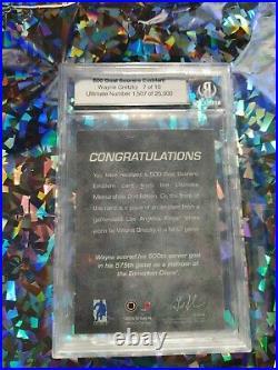 2001-02 BAP Ultimate Wayne Gretzky 500 Goal Scorers Emblem /10 SP Patch