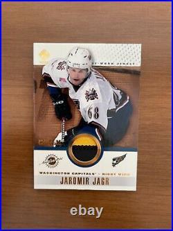 2001-02 Private Stock Jaromir Jagr Game Worn Jersey Patch Variation VERY RARE