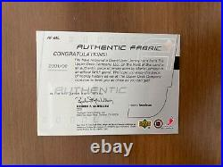 2001-02 Upper Deck Mario Lemieux Game Worn Jersey Patch #AF-ML VERY RARE