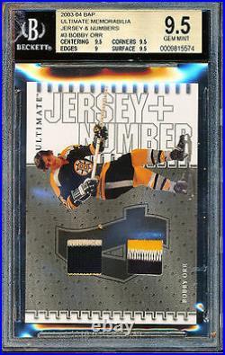 2003-04 Bap Ultimate Memorabilia Jersey Number Bobby Orr /10 Bgs 9.5 Patch Pop 1
