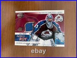 2003-04 Supreme Hockey Patrick Roy Game Worn Jersey Patch /200 VERY RARE
