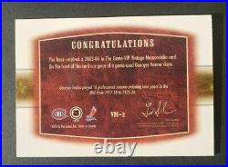 2003 ITG VIP Vintage Memorabilia Georges Vezina GU Skate /10