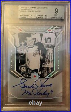2004-05 Ud Upper Deck Ultimate Collection Signatures Gordie Howe Auto Bgs 9