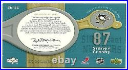 2005 05-06 Sp Game Used Sidney Crosby Rookie Auto Jersey /87 Significant Number