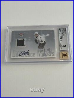 2005-06 Fleer Rookie Sidney Crosby Difference Makers Jersey Auto Rookie 10/10