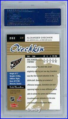 2005-06 Fleer Ultra Alexander Ovechkin #252 Gold Medallion Rc Psa 10 Gem Mint