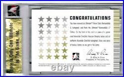 2005-06 ITG Ultimate FUTURE STARS Alex Ovechkin SP RC AUTO GU JERSEY Ser#9/10