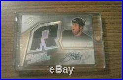 2005-06 SPX Hockey SIDNEY CROSBY ROOKIE AUTO JERSEY ON RYAN WHITNEY ERROR CARD