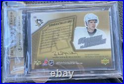 2005-06 SPx #191 Sidney Crosby Jersey Auto BGS 9.5