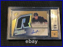 2005-06 UD SPX ALEXANDER OVECHKIN ROOKIE JERSEY AUTO #ed 10/499 BGS 8.5/10