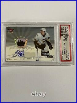 2005/06 Ud Fleer Ultra Sidney Crosby Rookie Scoring Kings Auto/jersey 19/20 Psa8