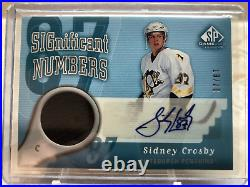 2005/06 Ud Sp Game Used Significant Number Sidney Crosby Rookie Auto Jersey /87
