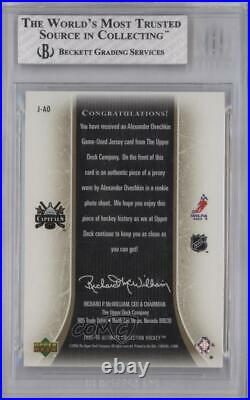 2005-06 Ultimate Collection Jersey /250 Alex Ovechkin #J-AO BGS 8 Rookie