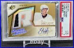 2005-06 Upper Deck SPx Rookie Jersey Auto PSA 9 Sidney Crosby
