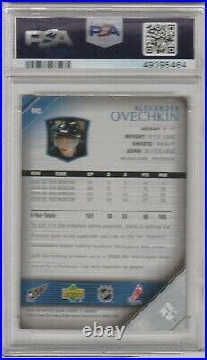 2005 06 Upper Deck Young Guns Rookie #443 Alexander Ovechkin Capitals PSA 9 Mint