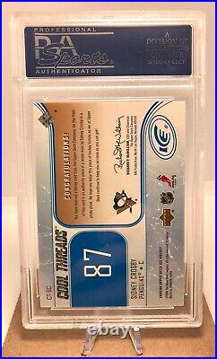 2005 Sidney Crosby Upper Deck Ice Cool Threads Patch/Jersey PSA 10 ROOKIE