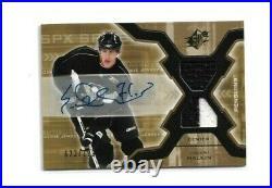 2006-07 Spx #193 Evgeni Malkin Jersey Auto Rc Ud Rookie /799 Penguins