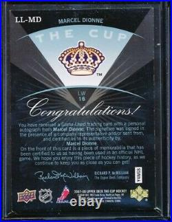 2007-08 The Cup Marcel Dionne Limited Logos Jersey Logo Patch Auto 8/22