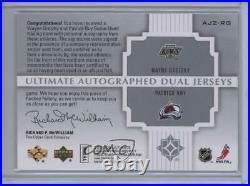 2007-08 Ultimate Collection Dual Jerseys /10 Wayne Gretzky Patrick Roy Auto HOF