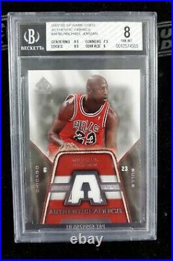 2007 2007-08 Sp Game Used Michael Jordan Authentic Fabrics Jersey Bgs 8 Bulls
