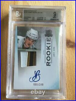 2009-10 UD The Cup JAMIE BENN Auto 3 clr Patch Jersey RC Rookie 68/249 BGS 9