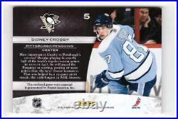 2010-11 Panini Zenith Jumbo jersey Sidney Crosby NHL Shield 1/1