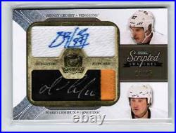 2010-11 The Cup Scripted Swatches Dual #SS2LC Mario Lemieux/Sidney Crosby /15