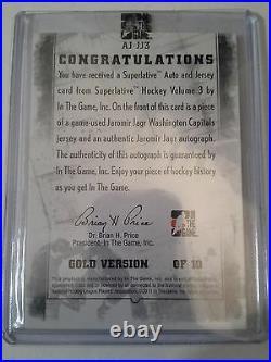 2011-12 ITG Superlative JAROMIR JAGR Gold Autograph Jersey BuyBack #1/1 Capitals