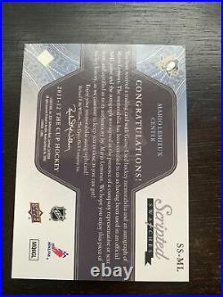 2011-12 UD The Cup Mario Lemieux Scripted Swatches 30/35 Penguins jersey auto