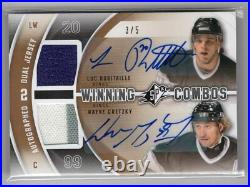 2011-12 Ud Spx Winning Combos Dual Auto Jersey /5 Wayne Gretzky Luc Robitaille