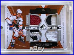 2012-13 UD SP Game Used Wayne Gretzky Game Gear Jersey/Patch/Tag/Fight Strap 3/3
