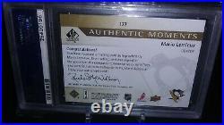 2012 Sp Authentic Moments Mario Lemieux Auto Psa 10 Gold Ink