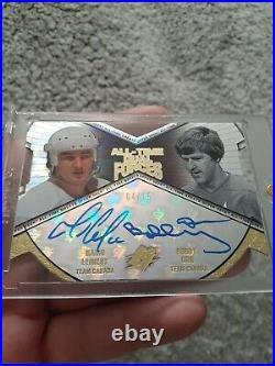 2012 UD SPX Dual Autograph Mario Lemieux Bobby Orr Auto # 4/15! Jersey # 1/1
